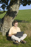 Wireless working outside Stock Image