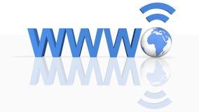 Wireless WWW Technology. Image of  Wireless WWW in 3D Royalty Free Stock Photo