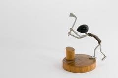 Wireman - houthakker Stock Foto