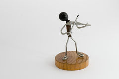 Wireman - violinist Royalty Free Stock Photography