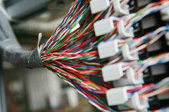 Wires. Communications wires in site ,colorful Royalty Free Stock Images