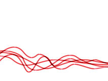 Wires. Five red wires of different wave Royalty Free Stock Photo