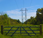 WIRES AND NATURE Royalty Free Stock Images