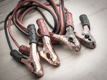 Wires for battery charging Stock Photo