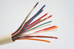 Wires in cable Royalty Free Stock Photo