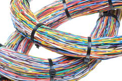Wires with cable ties Royalty Free Stock Photo