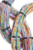 Wires with cable ties Stock Images