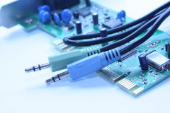 Wires and chip Royalty Free Stock Photos