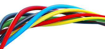 Wires color stock illustration