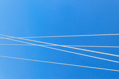 Wires covered with frost Royalty Free Stock Image