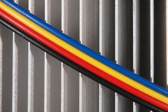 Wires dark blue red yellow and black Royalty Free Stock Images