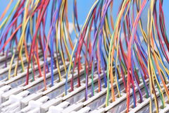 Wires IP Switchboard Panel Royalty Free Stock Image