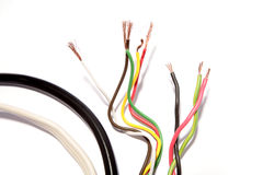 Wires over white Royalty Free Stock Images