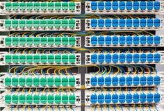 Wiring in broadband cabinet Stock Photos