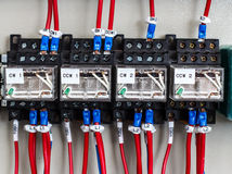 Wiring -- Control panel with wires Royalty Free Stock Image