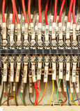 Wiring -- Control panel with wires Stock Images