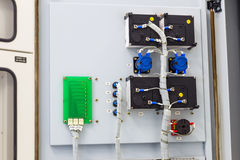 Wiring of electric swich and board Royalty Free Stock Photo
