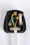 Wiring inside English plug. Stock Image