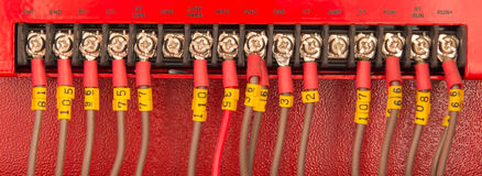 Wiring PLC Royalty Free Stock Images