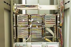 Rear of server rack Stock Image