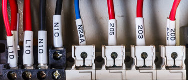 Wiring - wires in industry Royalty Free Stock Photography