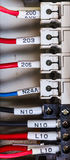 Wiring - wires in industry Royalty Free Stock Photos