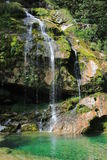 Wirje瀑布, Kanin山,斯洛文尼亚 库存图片