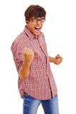 Wirklich glücklicher junger Kerl Stockbilder