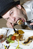 Wirklich hungriger Mann lizenzfreie stockfotografie
