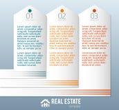 Wirklich-Zustand-Agentur-Anzeige-Schablone Stockbilder