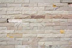 Wirkliche alte Backsteinmauerbeschaffenheit und -hintergrund Lizenzfreies Stockbild