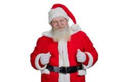 Wirkliche bärtige Santa Claus auf weißem Hintergrund Lizenzfreie Stockfotos