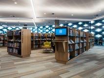 Wirkliche Bibliothek, Lernen und kulturelle Mitte in Ringwood in den Ostvororten von Melbourne lizenzfreie stockfotos