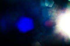 Wirkliche Blendenfleck-Atelieraufnahme einfach, als Filter über Fotos hinzuzufügen Stockfoto