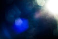 Wirkliche Blendenfleck-Atelieraufnahme einfach, als Filter über Fotos hinzuzufügen Lizenzfreies Stockfoto