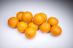 Wirkliche frische Tangerinen lizenzfreie stockbilder