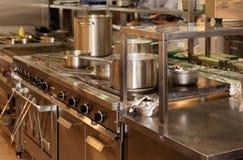 Wirkliche Küche eines Restaurants Stockfoto