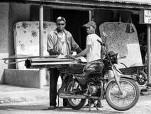 Wirkliche Leute in Togo (Schwarzweiss) Stockfoto