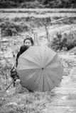 Wirkliche Leute in Vietnam, Schwarzweiss Stockbilder