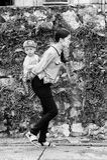 Wirkliche Leute in Vietnam, Schwarzweiss Stockbild