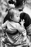 Wirkliche Leute in Vietnam, in Schwarzweiss Lizenzfreies Stockfoto