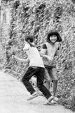 Wirkliche Leute in Vietnam, in Schwarzweiss Stockbilder