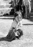 Wirkliche Leute in Vietnam, in Schwarzweiss Lizenzfreie Stockbilder