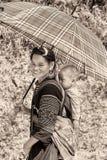 Wirkliche Leute in Vietnam, in Schwarzweiss Lizenzfreies Stockbild
