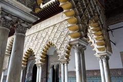 Wirklicher Alcazar in Sevilla, Andalusien Stockfoto