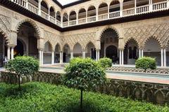 Wirklicher Alcazar in Sevilla, Andalusien Lizenzfreies Stockbild