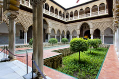 Wirklicher Alcazar in Sevilla, Andalusien Lizenzfreie Stockfotografie