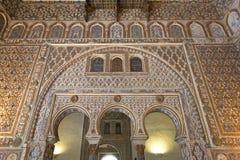 Wirklicher Alcazar in Sevilla, Andalusien Lizenzfreie Stockfotos
