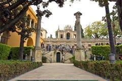 Wirklicher Alcazar in Sevilla, Andalusien Lizenzfreies Stockfoto