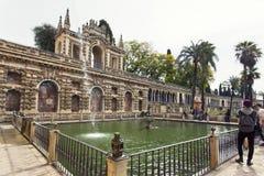 Wirklicher Alcazar in Sevilla, Andalusien Lizenzfreie Stockbilder